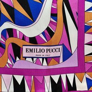 Emilio Pucci silk scarf purple made in Italy